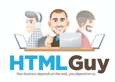 HTMLGuy logo with multiple programmers