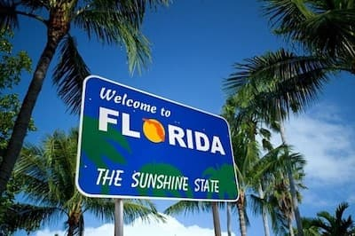 FL, the sunshine state