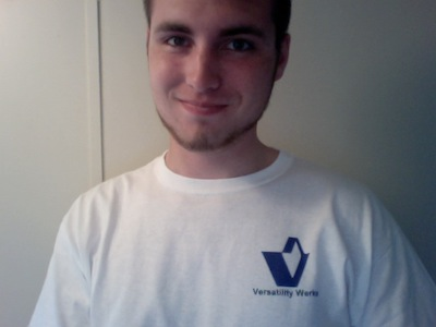 Picture of Shane wearing Versatility Werks t-shirt