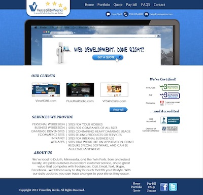 mockup for fourth verswerks.com website