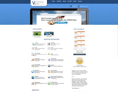 verswerks.com fourth version of the website