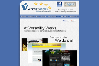 verswerks.com third version of the website