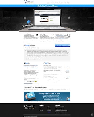 verswerks.com seventh version of the website