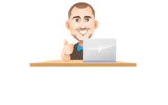 HTMLGuy Logo White without Motto